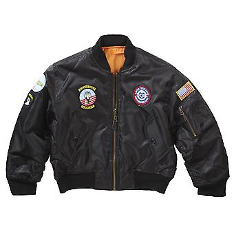 Nuovi bambini Airforce MA1 volo Bomber Jacket badge