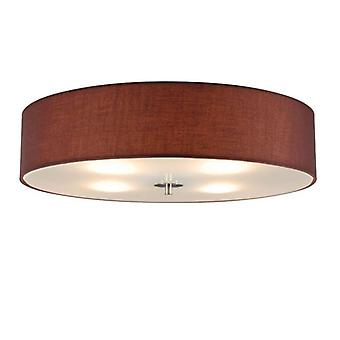 QAZQA Ceiling lamp Drum 50 round brown