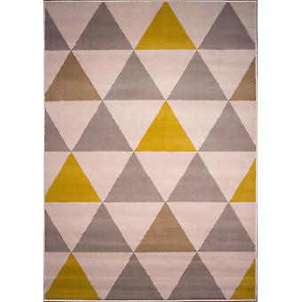 Okker & grå moderne diamanter geometrisk tæppe - Milano