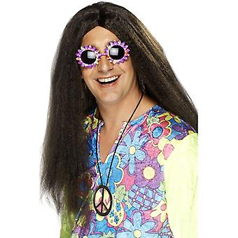 Hippy hippy wig men's 60s, flower power