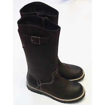 Froddo Girls Brown Waterproof Long Boot In Nubuck | Froddo