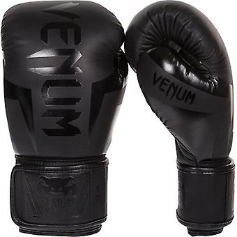 Venum Elite Neon Boxing Gloves - Black