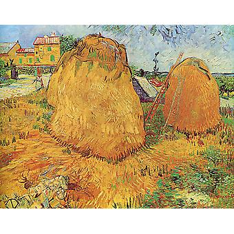 Vincent Van Gogh - Haystacks in Provence Poster Print Giclee