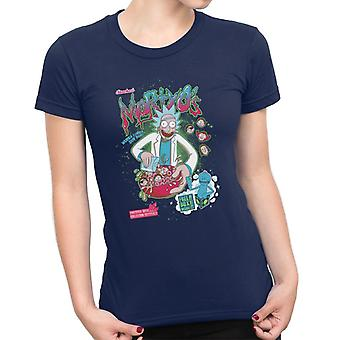 Mortyos Spacey cereali Rick e Morty donna t-shirt