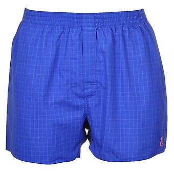 Thomas Pink Woven Boxer Short, Blue Check, Small