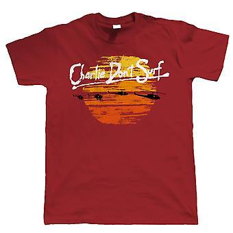 Charlie nie surfować śmieszne męskie T Shirt