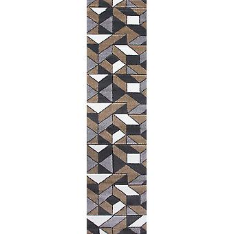 Natural Geometric Hall Runner Rug - Rio