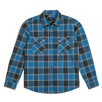 Brixton Bowery Flannel L/S Shirt Blue Navy