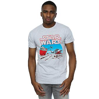 Star Wars Men's The Last Jedi Action Scene T-Shirt