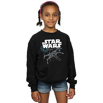 Star Wars piger den sidste Jedi X-Wing Sweatshirt