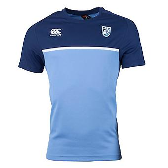 2017-2018 Cardiff Blues Rugby Players Training Tee (Navy)
