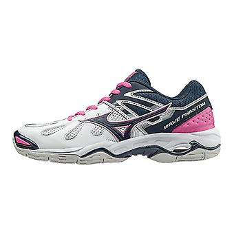 Mizuno Wave Phantom Netball skor - AW16 - UK 10 - vit/blå