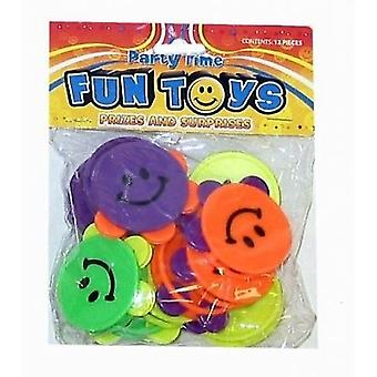 Bag of 12 Smiley Mini Tambourines