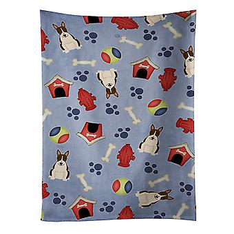 Dog House Collection Bull Terrier Dark Brindle Kitchen Towel