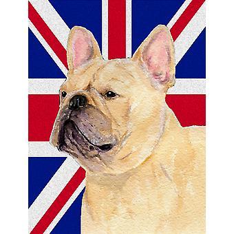 Bulldog francese con la dimensione del giardino inglese Union Jack British Flag Bandiera