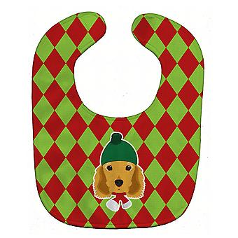 Carolines Treasures  BB5979BIB Christmas Cocker Spaniel Baby Bib
