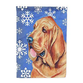 Carolines skatter LH9286-flagg-foreldre Bloodhound vinter snøflak ferie Fla
