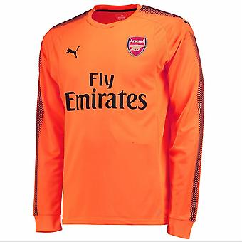 2017-2018 Arsenal Puma Away LS Goalkeeper Shirt (Orange) - Kids