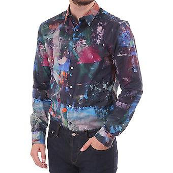 PS Paul Smith Slim Fit Sc Oil Paint Allover Print