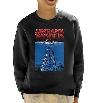 Jawrassic World Mosasaurus Jurassic Jaws Kid's Sweatshirt