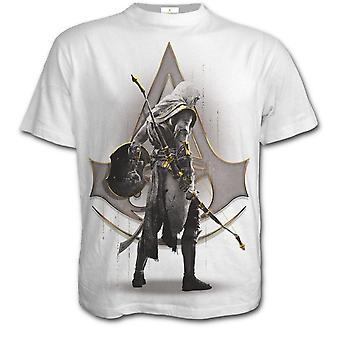 Spirala Assassins Creed Bayek męskie biały Tshirt