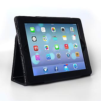 Caseflex Ipad Air Textured Leather-Effect Stand Cover - Black