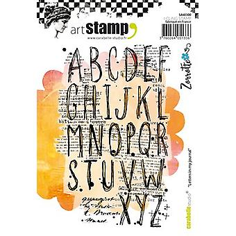 Carabelle Studio Cling Stamp A6-Letters In My Journal SA60300