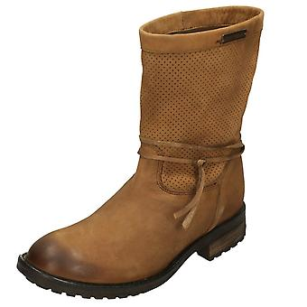 Ladies Harley Davidson Mid Calf Boot Silicia D83972 - Tan Leather - UK Size 7.5 - EU Size 41 - US Size 9.5