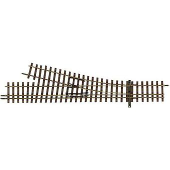 H0m Tillig Narrow Gauge 85194 3-rail point, Left 128 mm