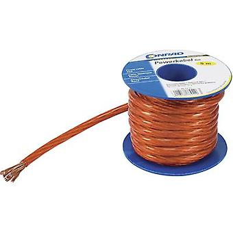 Earth cable 1 x 25 mm² Red, Transparent Conrad Components