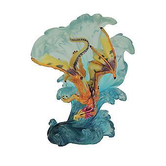 Deslizamiento a lo largo de onda estatua del dragón