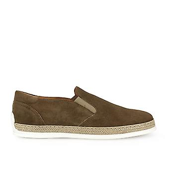 Triver flight ladies 99701B brown suede slip on sneakers