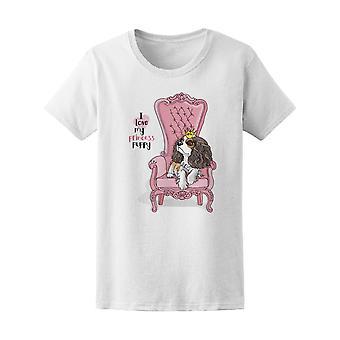 Cavalier Spaniel Princess Puppy Tee Women's -Image by Shutterstock