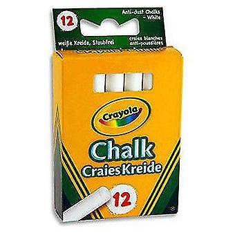 Crayola 12 Anti-dust White Chalks (Babies and Children , Toys , School Zone)