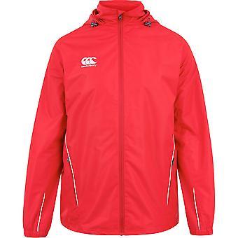 Canterbury Mens Team Full Zip Hooded Mesh Lined Quick Dry Rain Jacket