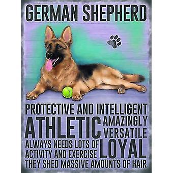 Medium Wall Plaque 200mm x 15mm - German Shepherd