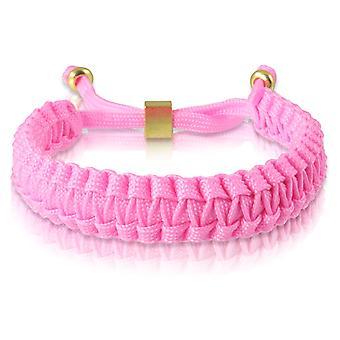 Gevlochten armband armband armband gevlochten nylon in Rosa Gold 7169 schipper