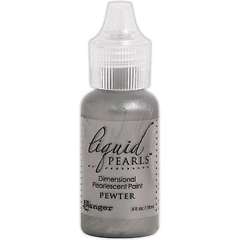 Liquid Pearls Dimensional Pearlescent Paint .5oz-Pewter