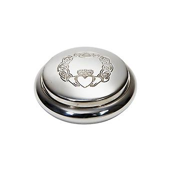 Claddagh Embossed Pewter Trinket Box
