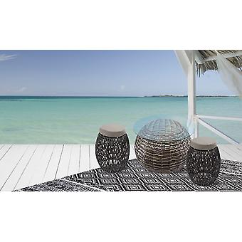 COCHTISCH END TABLE GARDEN TABLE RATTAN TABLE GLASS