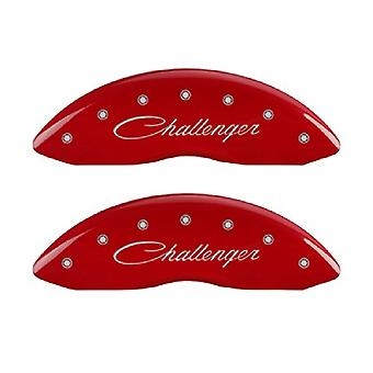 MGP Caliper Covers 12162SCLRRD Caliper Cover with Red Powder Coat Finish, (Set of 4)