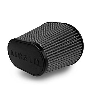 Airaid 722-472 Universal Clamp-On Air Filter: Oval Tapered; 6 in (152 mm) Flange ID; 9 in (229 mm) Height; 10.75 in x 7.