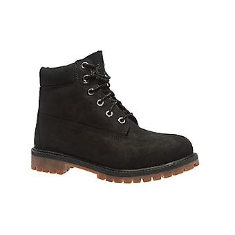 Timberland 6 inch premium junior real leather boots black