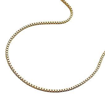 Golden barn halskjede kjeden, 38 cm, venetianske kjeden, 9 KT gull 375