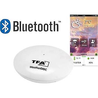 TFA Kat.Nr. 30.5037.02 Weather Disc Bluetooth Thermo-Hygrometer für Smartphones Thermo-hygrometer (app-based) White
