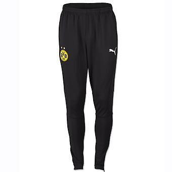2018-2019 Borussia Dortmund Puma Casual Sweat Pants (Black)