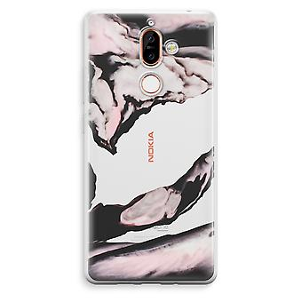 Nokia 7 Plus Transparent Case (Soft) - Pink stream