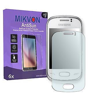 Samsung S3800W Rex 70 Screen Protector - Mikvon AntiSun (Retail Package with accessories)
