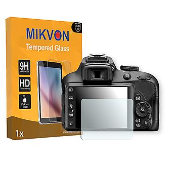 Nikon D3400 Screen Protector - Mikvon flexible Tempered Glass 9H (Retail Package with accessories)
