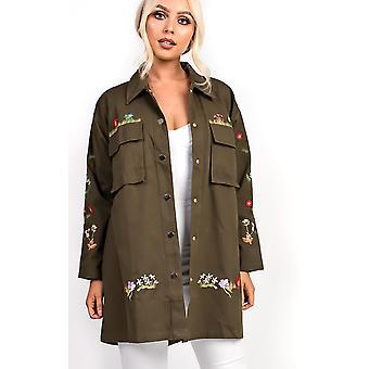 IKRUSH женские Хейвен хаки цветочные куртки